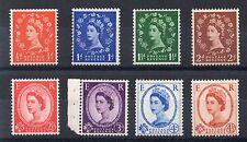 1958 GB Wilding GRAPHITES DEFINITIVE Stamps Set 8v SG587-694 UNMOUNT MINT Re:X55