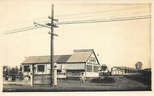 Rangeley ME Burnells Place Tydol Gas Station Camps Lunch Real Photo Postcard