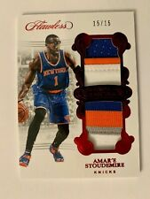 2017-18 Panini Flawless Basketball Amar'e Stoudemire Dual Patches Ruby # 15/15