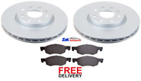 FOR VAUXHALL CORSA E 1.2 & 1.4 (2014 ONWARDS) FRONT BRAKE DISCS & PADS SET *NEW*