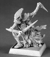 1x ZALASH - WARLORD REAPER miniature rpg jdr elf noir assassin rogue 14571