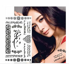 Arabic word temporary tattoos  flower Body Waterproof sticker Islamic Muslim art