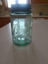 ***AWESOME*** Light Green Pint Genuine Boyd's Mason Fruit Jar