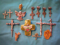 Lot of Seasonal Spiritual Religious Pendants Brooches Lapels Charms