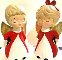 Kissing Angels First Kiss Ceramic Hand Painted Choir Kids Christmas Boy Girl