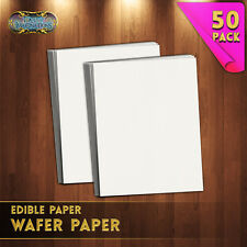 "50 Pack Edible Printer Wafer Rice Starch Potato Paper White Sheet - 8""x11"" Inch"
