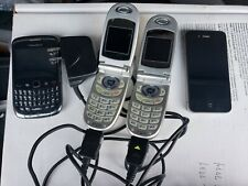 Lot of 6 Cell Phones  LG Flip 2 Iphone 4 2 BlackBerry Verizon