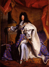 """Art oil painting hyacinthe rigaud - Louis XIV, King of France man portrait 36"""""""