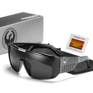 Dragon Style Eyewear D2030 Domo Windproof Men Sport Shield Frame Polarized Sungl