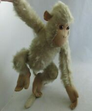 "Vtg Moth Eaten Tan Mohair & Felt Monkey Ape w/ Long Tail 15"" German?"