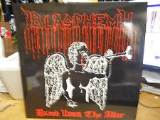 BLASPHEMY BLOOD UPON THE ALTAR/GODS OF WAR USED LP OSMOSE  WHITE VINYL
