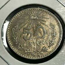 1939 MEXICO SILVER 50 CENTAVOS HIGH GRADE COIN