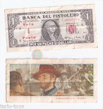 PER UN PUGNO DI DOLLARI 1964 clint eastwood banconota western promo ticket rare