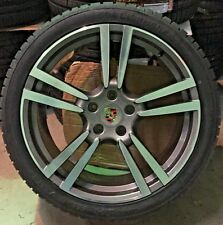 22 PORSCHE PANAMERA TURBO GTS 2017 HYBRID WHEELS TIRES RIMS POLISHED SET OF 4