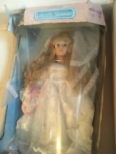 Collectible Memories Porcelain Bride Doll Wedding Dress/Gown New From Kmart 15�