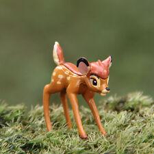 y Disney Deer Miniature Figurine Garden Ornament Plant Pot Fairy Dollhouse Craft