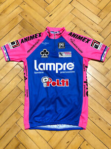Vintage SMS Santini Lampre Colnago Cycling Jersey Size XL Made In Italy