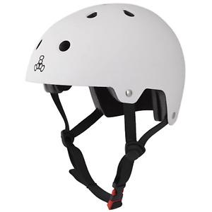 Triple 8 Protection EPS Brainsaver Skate/BMX Helmet, White