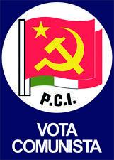 Poster VOTA COMUNISTA  GRAMSCI - MARX - BERLINGUER MANIFESTO POLITICO SINISTRA