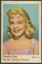 SANDRA DEE 1960 Vintage Dutch Gum Trading Card Serie A no 48 Printed in Holland