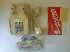 GTE 2500 Tone Dial Desk Telephone Ivory Vintage Open Box