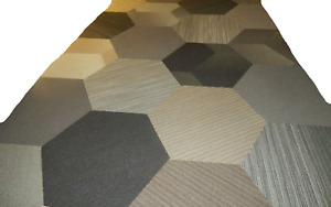 66 Pcs Carpet Tile 25'' x 25'' Total 264 S/F  Hexagonal  Coordinate Its Design .