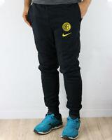 Inter Fc Nike Pantaloni tuta Pants UOMO Nero Cotone 2020 21 Fleece Sweat Cuff