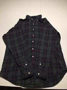 Ralph Lauren Polo Sz M Blake Shirt Cotton Flannel Plaid