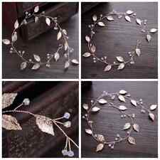 Handmade Rose Gold Leaves Bridal Jewelry Wedding Headband Headpieces Headdress