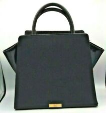 Zac Posen Eartha Satchel in Black Leather and Patent Leather