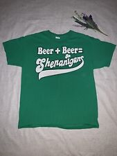 T-shirt Irish St.patricks  Beer + Beer Shananigans Adult Large