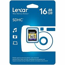 Lexar 16GB SDHC Class 4 Card for Digital Cameras Nikon, Samsung,Canon,Pentax