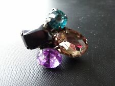 ** Funky MULTI COLORE IN ECOPELLE Gem Ring **