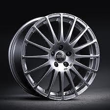 """Oz racing 17"""" roue alliage moyeu centre autocollants x 8 (autres tailles disponibles)"""