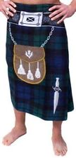 SCOTTISH BLACK WATCH KILT TOWEL KILT FEATURES - SPORAN - DAGGER
