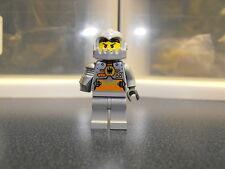 Lego Custom Agent Silver Minifigure With Gray Helmet
