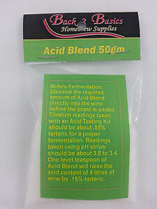 Acid Blend 50gm - For the Home Brew Hobbyist