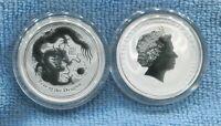 2012  50 cents 1/2 oz Silver Year of the Dragon ex Perth Mint Australia