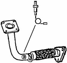 301181 EXHAUST PIPE FOR FORD GALAXY 2 1995-2006