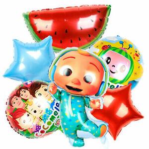 Baby Party Cocomelon JJmelon Balloons7 PCs Cartoon Aluminum Foil Balloons Set