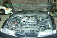 Hood Shock Gas Lift Strut Carbon Fiber Damper For Nissan 240SX S14 Silvia 95-98
