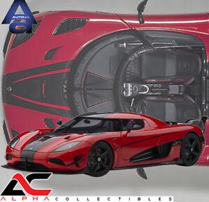 AUTOART 79022 1:18 KOENIGSEGG AGERA RS (CHILLI RED/CARBON) SUPERCAR