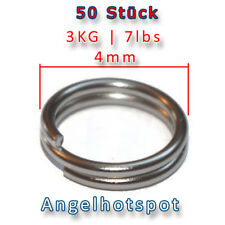 50 Stück Sprengringe | Ø 4mm | 3KG Tragkraft | Splitringe | Angelhotspot X2