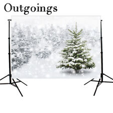 Christmas Backdrop Background snow forest Bokeh Winter Theme Photo Studio 7X5ft