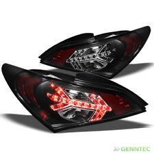 For 2010-2012 Genesis Coupe LED Black Tail Lights Rear Brake Lamp Taillight Set
