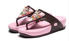 Damen Sandalen und Badeschuhe ohne Muster für Freizeit
