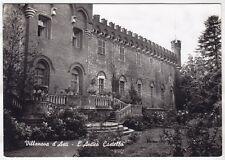 ASTI VILLANOVA D'ASTI 02 CASTELLO Cartolina FOTOGRAFICA VIAGGIATA 1958