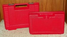 LEGO - Storage Case w/ Molded Handle & Panel Opening (X2) - Red