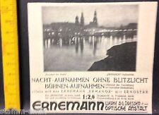 Ernemann,Dresden bei Nacht,Ermanox Aufnahme,AG Dresden,orig.Anzeige 1925