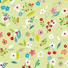 Ambiente Servilletas Tilly Verde Flores de Hojas Frutas 20st 33x